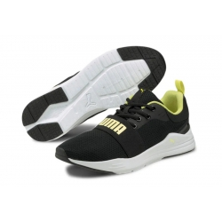 Zapatillas Puma Wired Run negro blanco amarillo